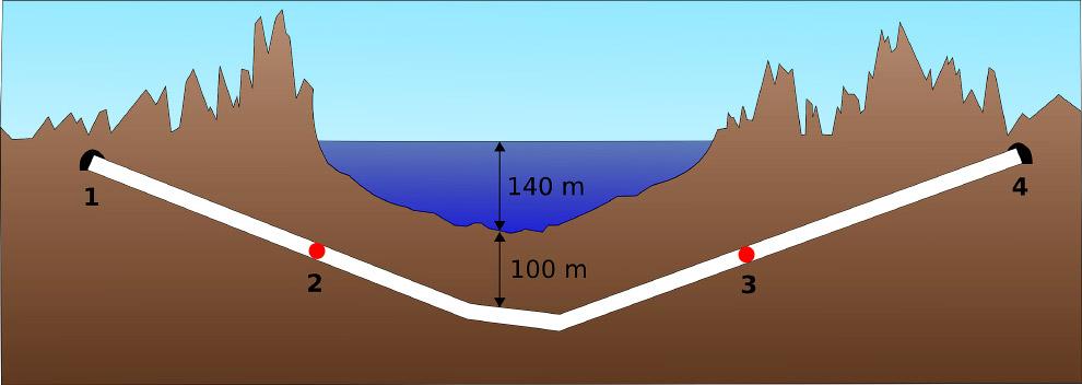 287 метров    Еще глубже находится  Эйксуннский автодорожный тон