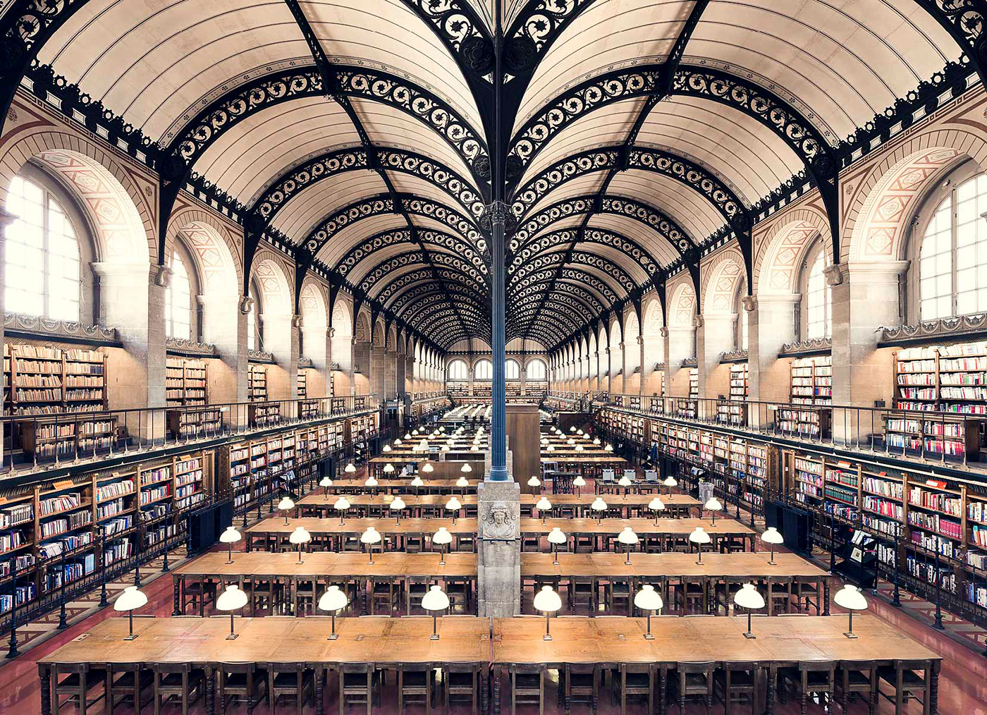 Bibliotheque Sainte-Genevieve, Paris, 1850