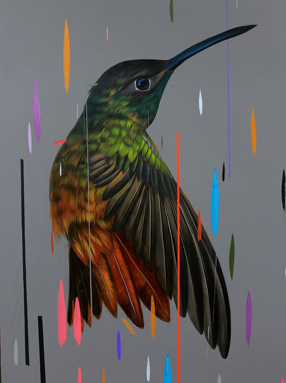 Paintings of Birds Sprinkled with Color by Frank Gonzales