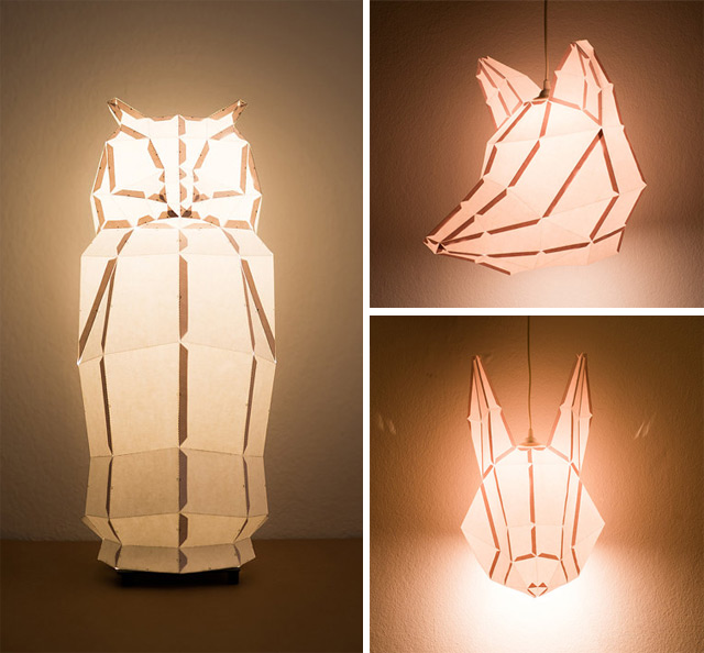 The folks over at the Vienna-based mostlikelyShop have a great collection of DIY foldable paper lamp