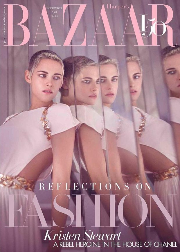 The actress is currently the symbol of Chanel by fronting Harper's Bazaar's September issue for a Ch