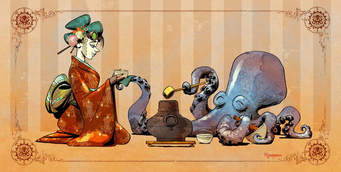 Illustrateur chez Disney, il imagine la vie avec une pieuvre apprivoisee