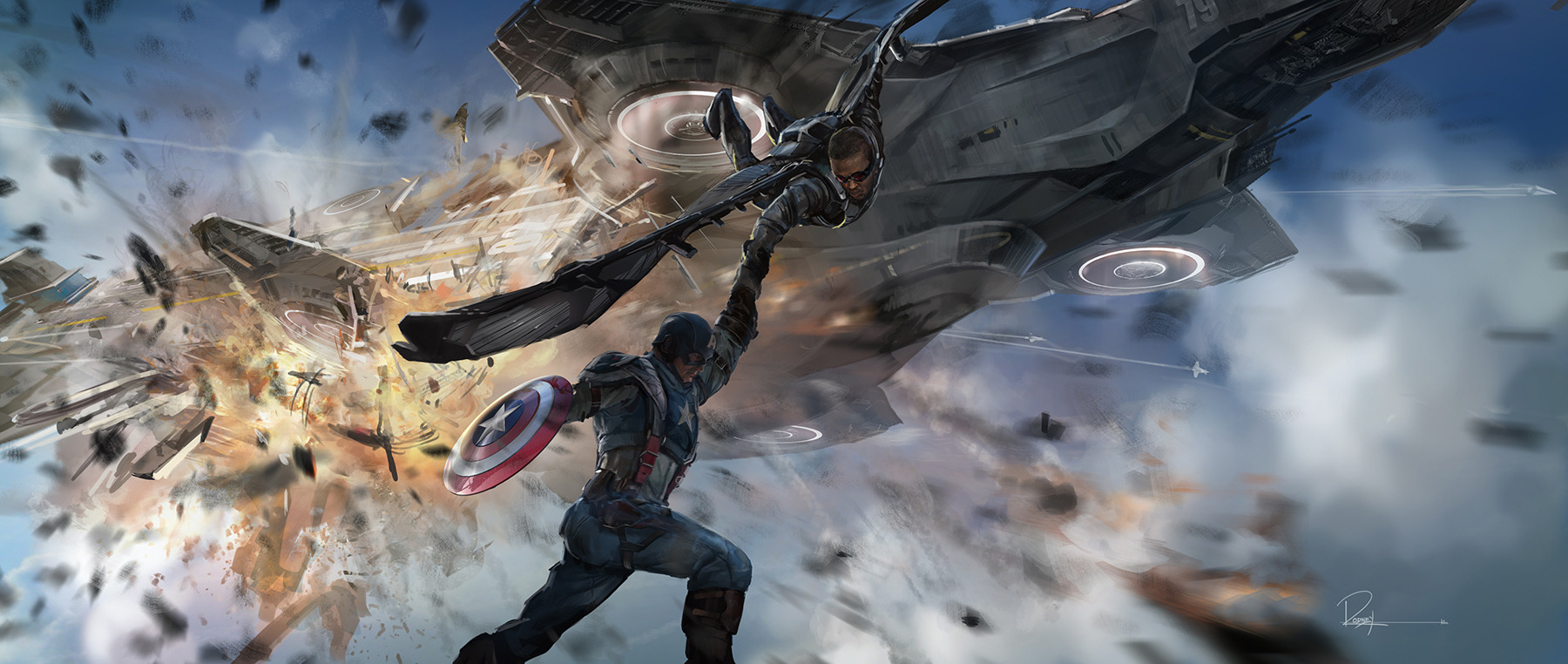 Captain America: The Winter Soldier Key Frame Illustrations by Rodney Fuentebella