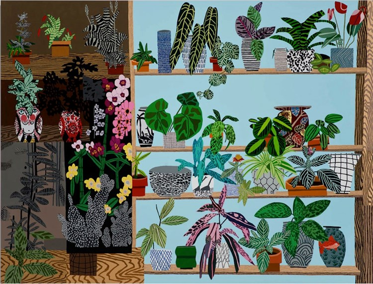Showing: Jonas Wood Mural @ MOCA (Los Angeles)