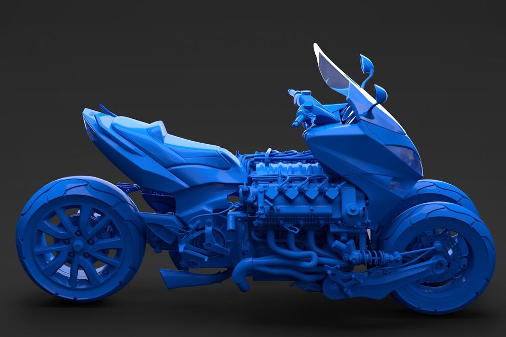 Лиен Йинг-Те. Концепты мотоциклов и трициклов