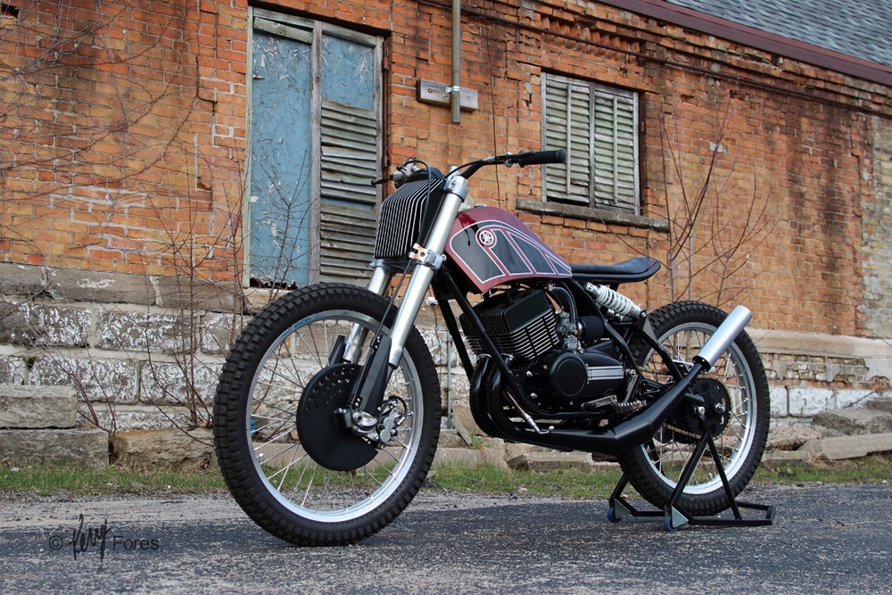 Jake Drummond Designs: кастом Yamaha RD350