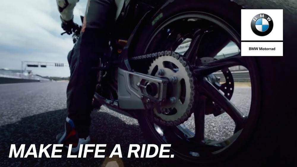 Бернаут на BMW HP4 Race (видео)