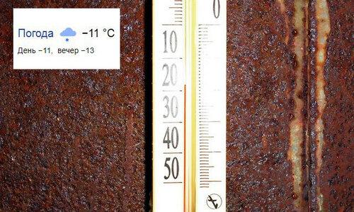 Расхождение температур.