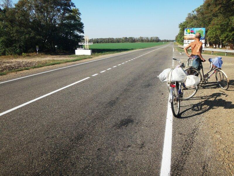 В точке межрайоннья ... 19. 01. Фото из велокольца. Ахтари-Староминская-Бейсугский пролив (125).JPG