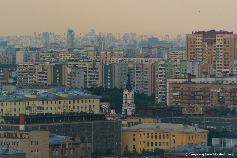 Москва с 21 этажа