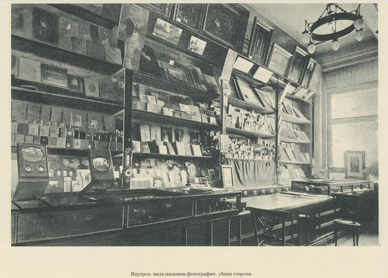 04. Внутренний вид магазина. Фотографическая левая сторона