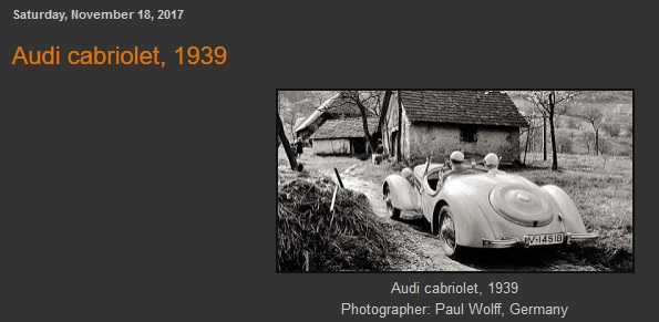 Кабриолет АУДИ, 1939-го года. маленькая
