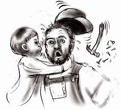 Неуместное поведение: ребенок целует водопроводчика