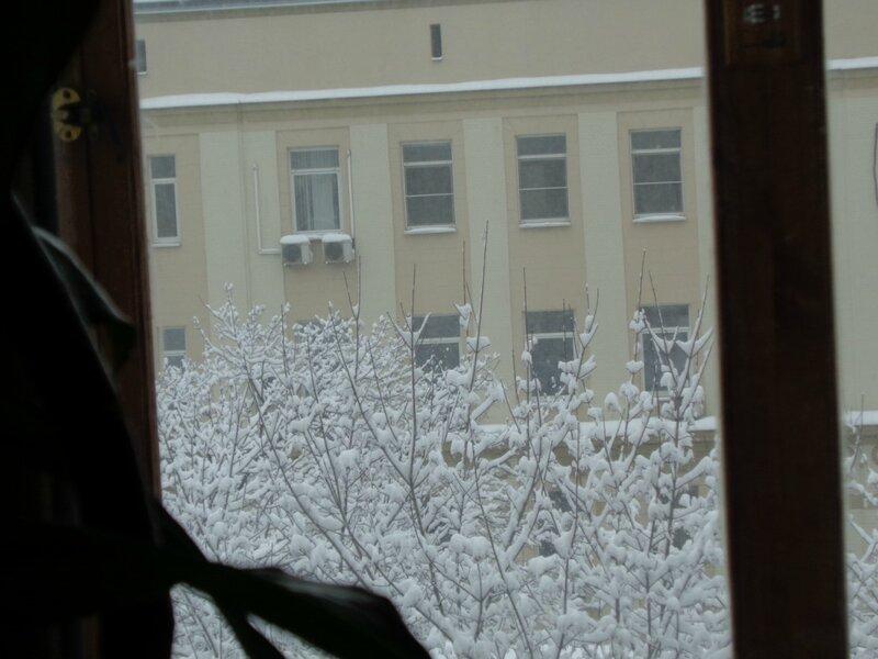 Зима в окошке