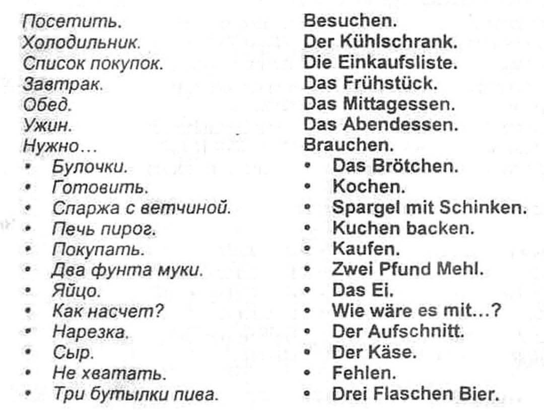 Аудиоуроки немецкого языка. Урок № 7.