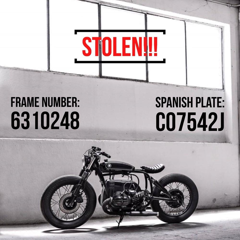 Неизвестные ограбили испанскую мастерскую Cafe Racer Dreams