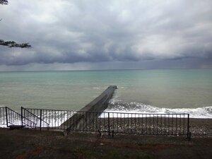 У моря Чёрного, в Абхазии, время зимнее, Новогоднее (9).JPG