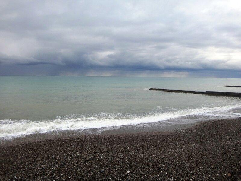 У моря Чёрного, в Абхазии, время зимнее, Новогоднее (12).JPG