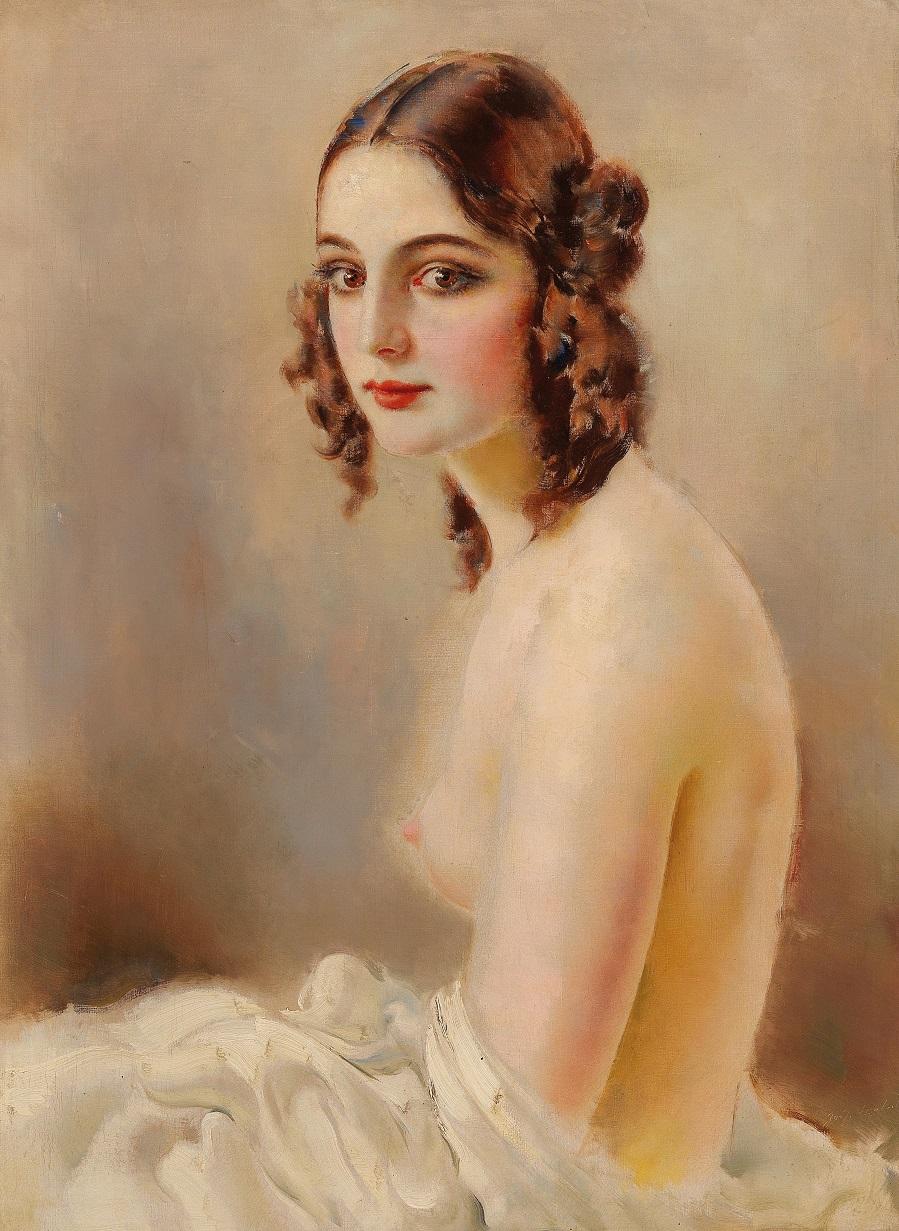 Josef Loukota Female Nude Seated