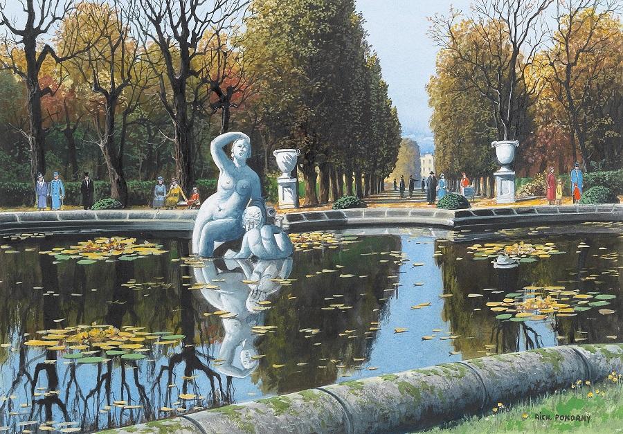 The Naiades Fountain in the park of Schönbrunn castle