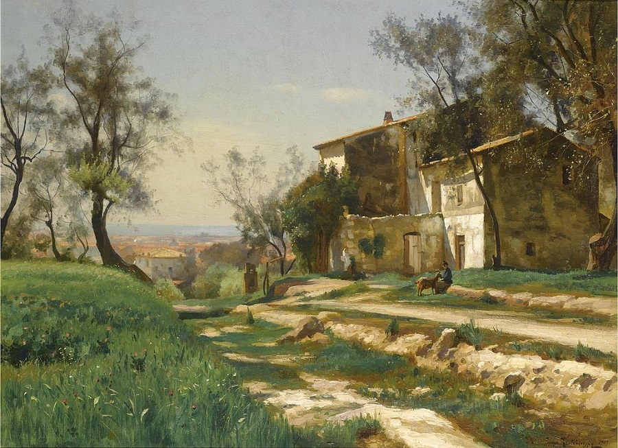 THE OUTSKIRTS OF NICE , 1909.