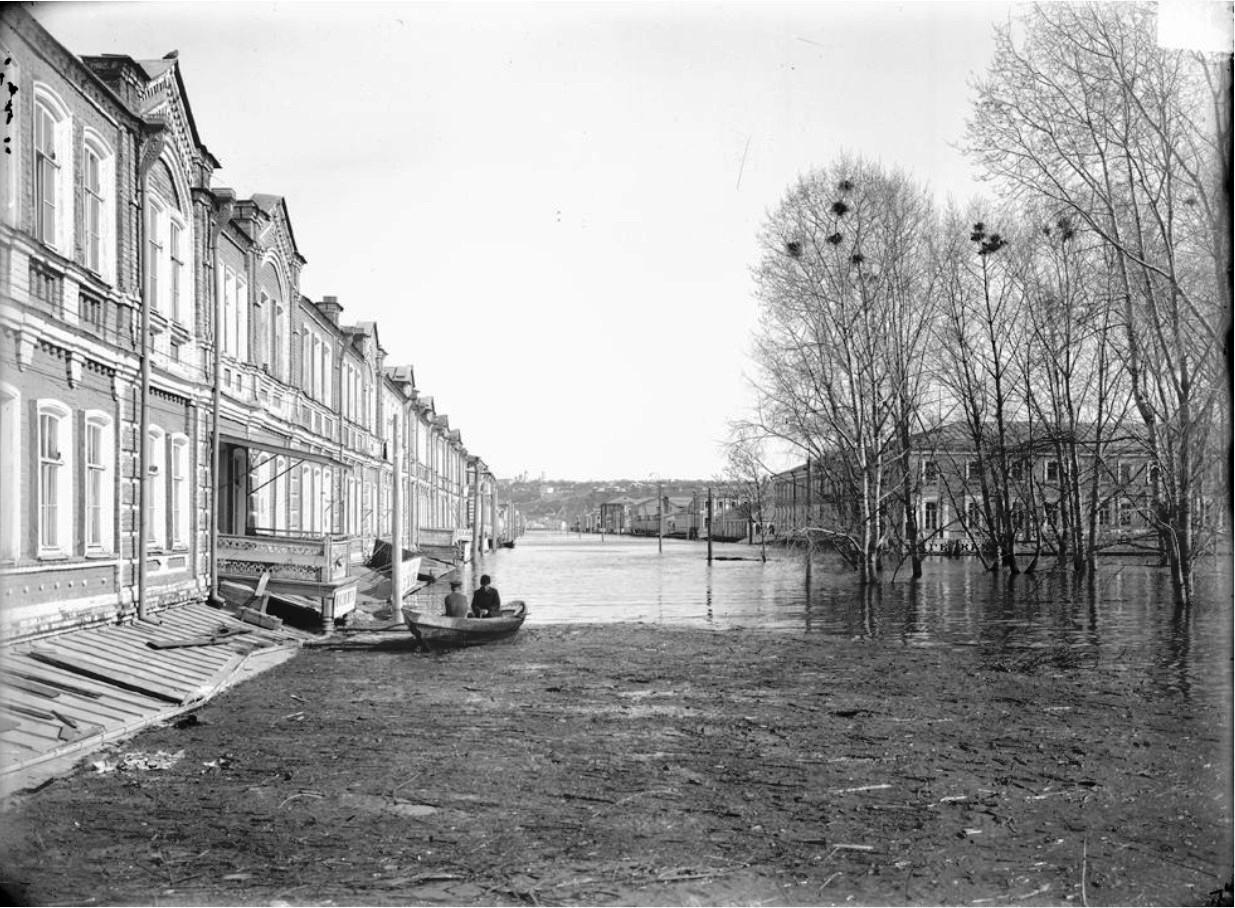 Нижегородская ярмарка. Вид на Нижегородскую улицу во время половодья