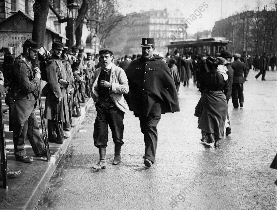 Festnahme eines Demonstranten / Foto - -
