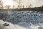 2018-02,03 Свалка грязного снега между МЦК и Ботаническим садом над Лихоборкой