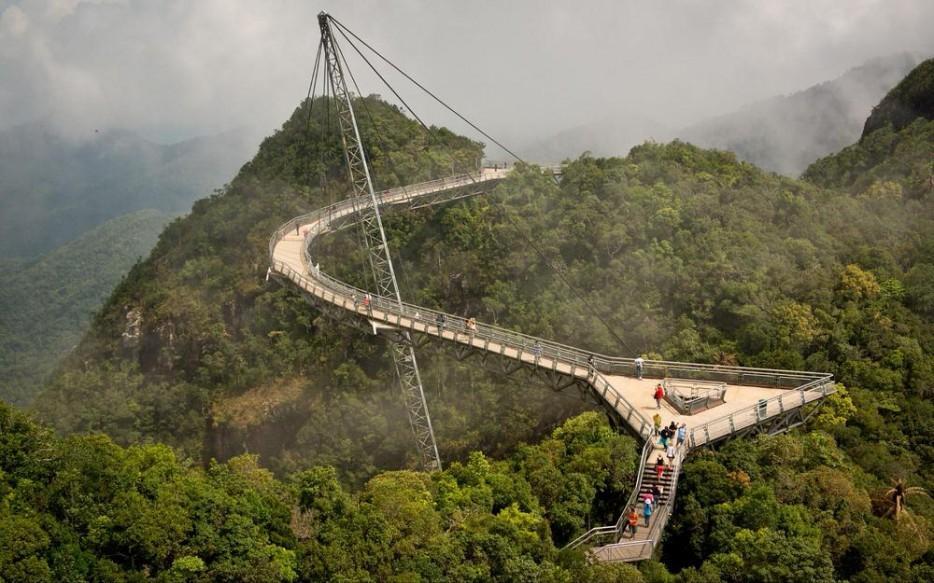 16. Подвесной мост Лангкави, Малайзия