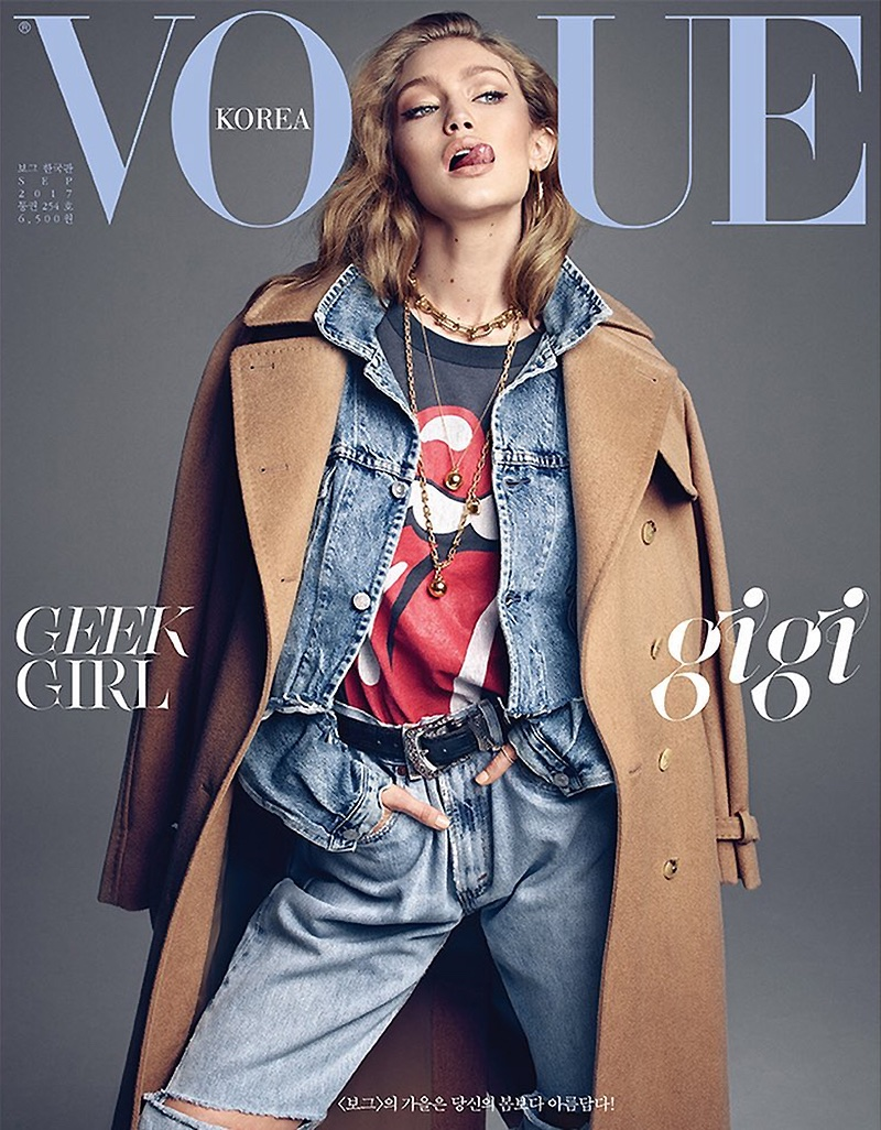 Джиджи Хадид в кавер-стори корейского Vogue