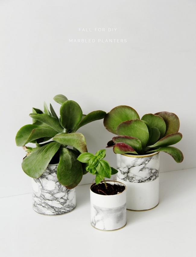 © fallfordiy     Новенькие горшочки для цветов можно создать своими руками изподручных м