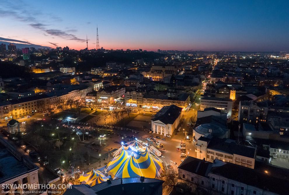 Зима в Киеве с высоты