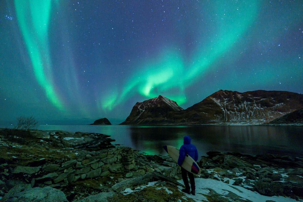 Арктический серфинг в Норвегии