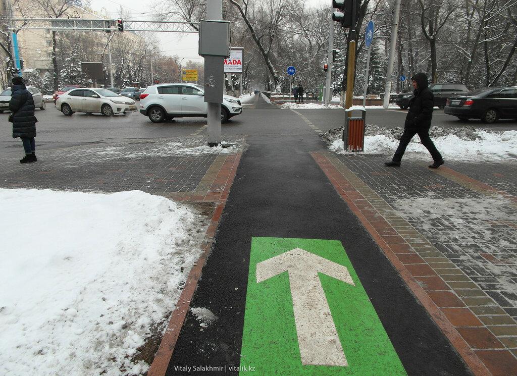Велодорожка на Гоголя-Кунаева.