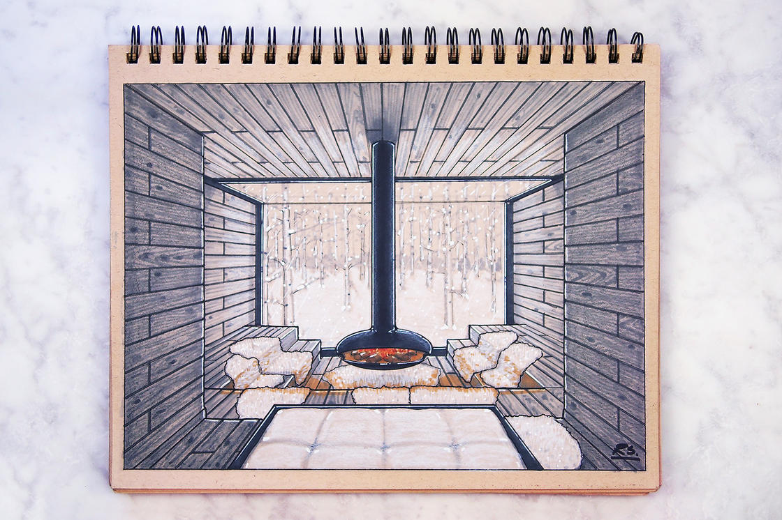 Architecture Concepts – The beautiful sketchbooks by Reid Schlegel