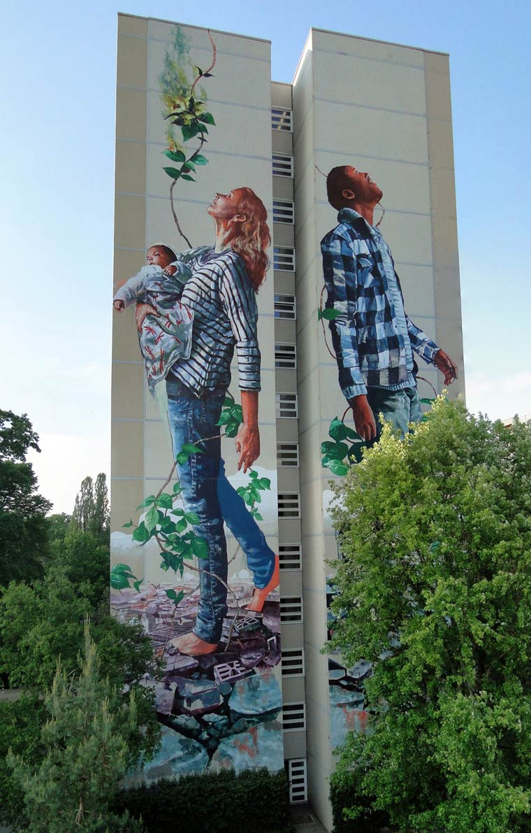 Pointless Monument – The latest street art creations by Fintan Magee