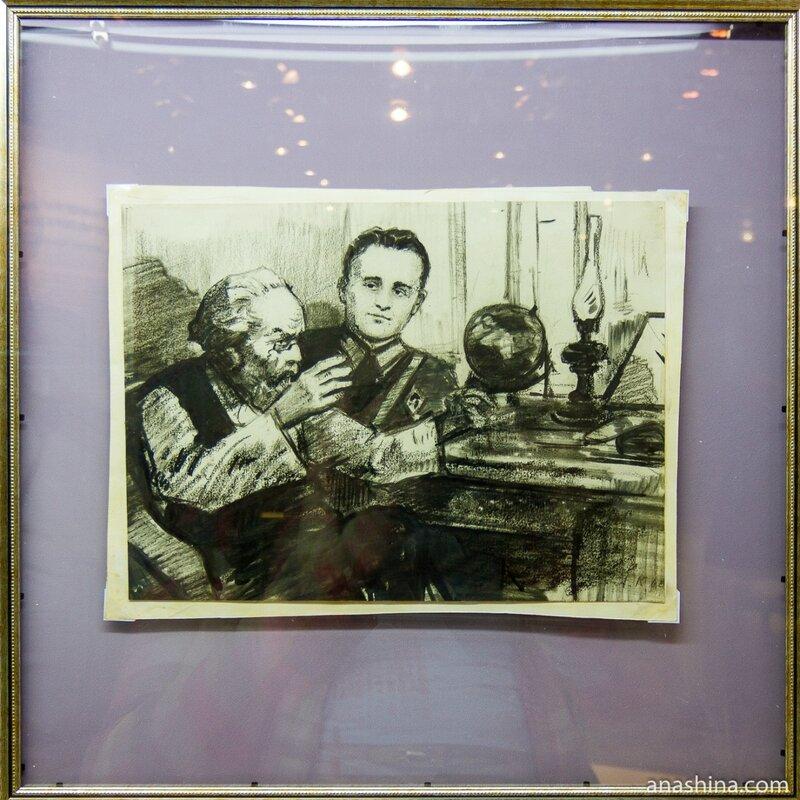 Встреча Королева с Циолковским, Музей космонавтики, Калуга