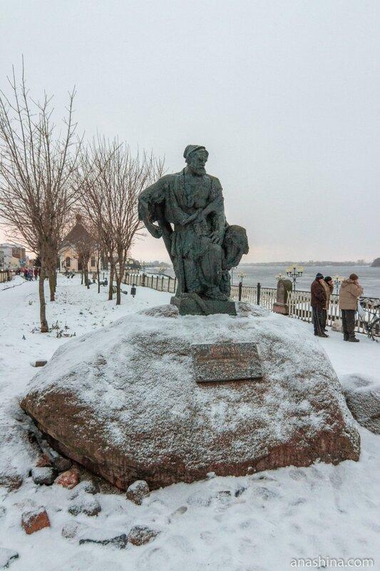 Памятник бурлаку, Рыбинск