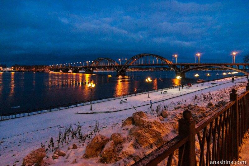 Рыбинский автомобильный мост через Волгу