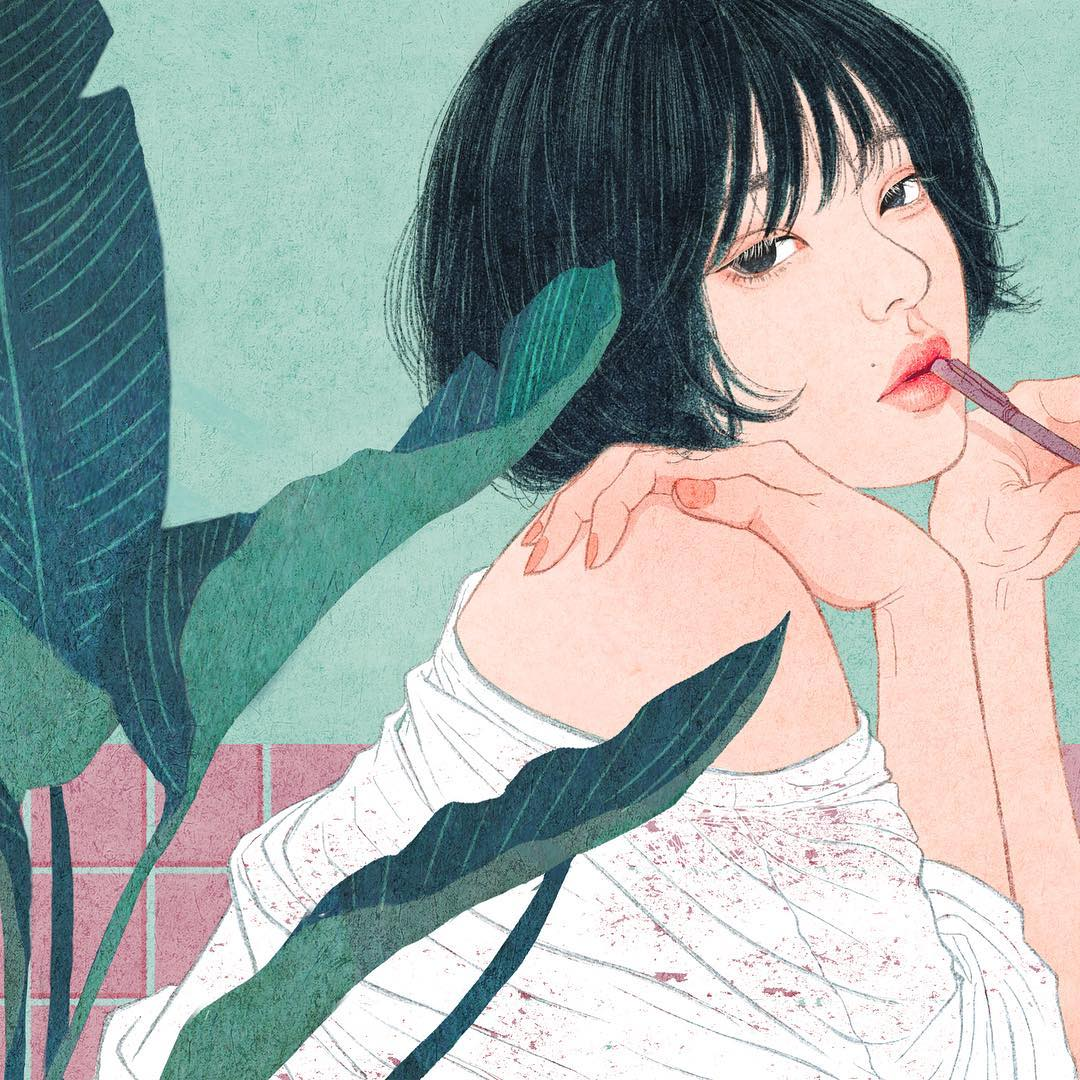 Intimate Korean Illustrations by Zipcy