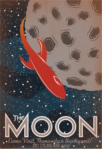 Retro Solar System Travel Posters – Luke Minner & Naomi Wilson (10 pics)