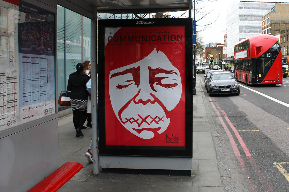 HOGRE – The street artist who hijacks advertising billboards in London