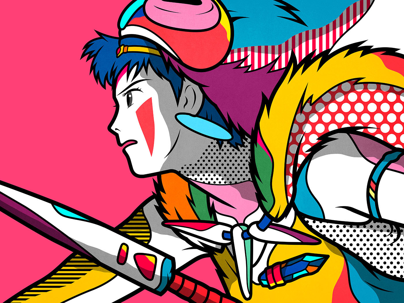 Pop-Inspired Colorful Illustrations
