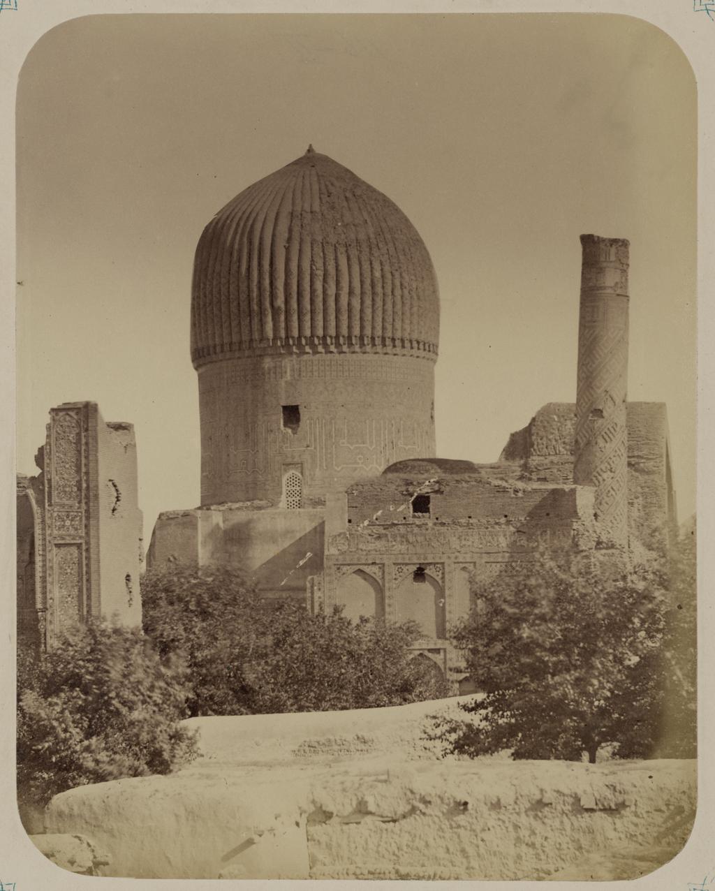 Мавзолей эмира Тимура Курагана. Вид северо-западного фасада мавзолея