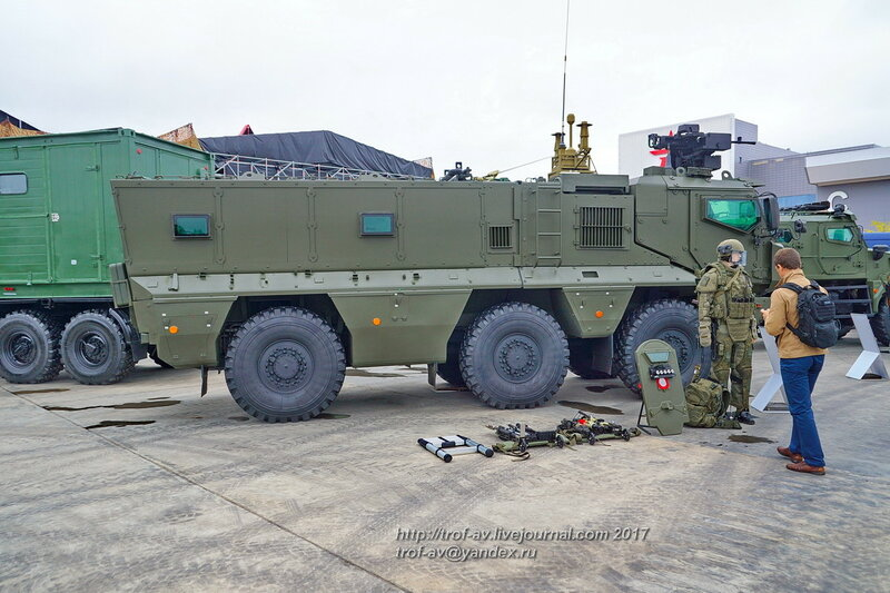 Защищенный автомобиль КАМАЗ-63968 Тайфун-К, форум Армия-2017