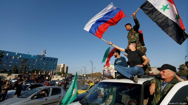 В Дамаске празднуют победу над западной триадой