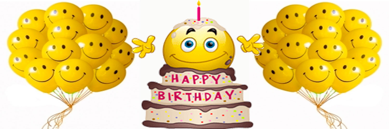 Необычные поздравления с днем рождения со смайликами