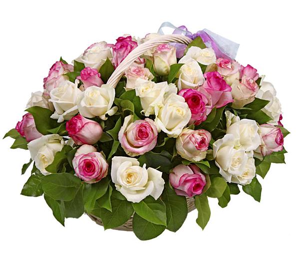 Открытки. С Днем Босса. Красивый букет роз