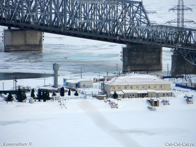 Мост через Волгу, зима 2018