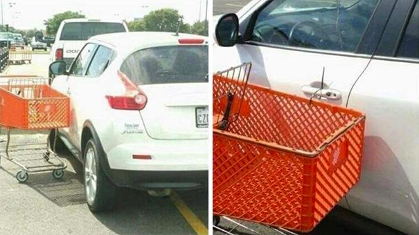 Да кто тебе права выдал: 12 примеров того, как проучили не умеющих парковаться водителей (12 фото)